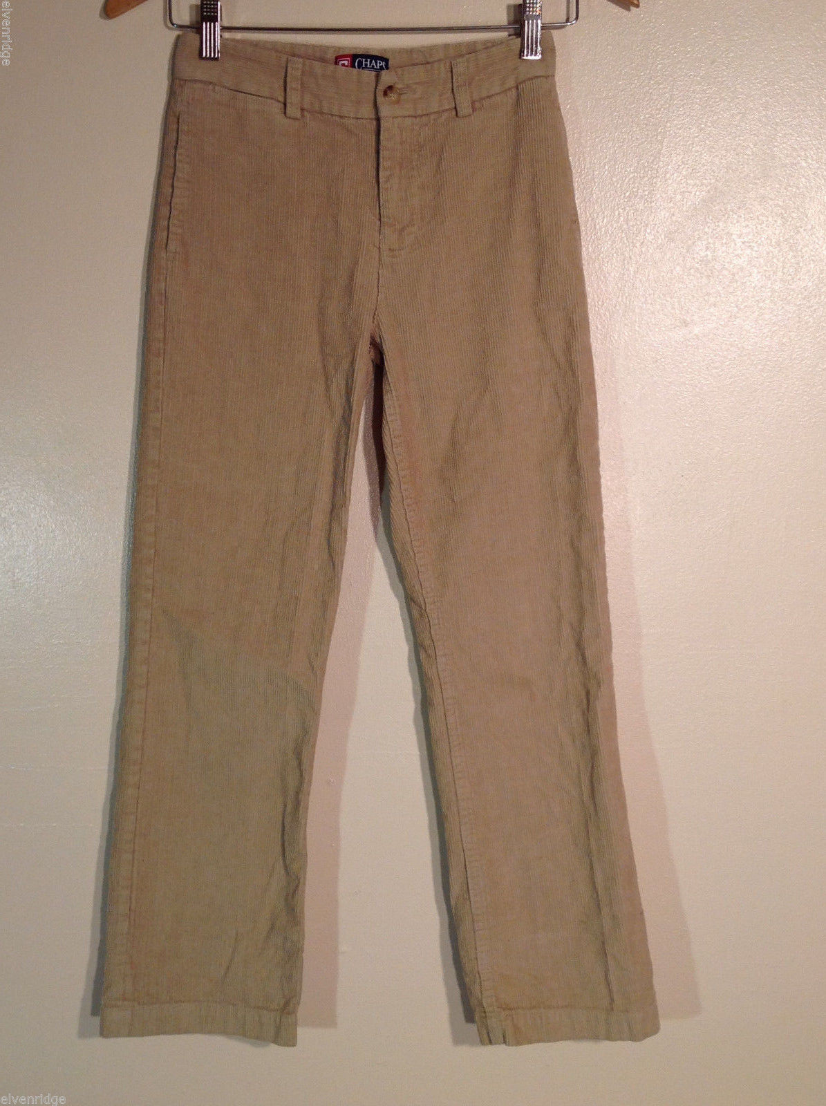 Chaps Boys' Size 12 Corduroy Casual Kids' Pants in Tan (Khaki Camel Brown)