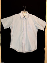 Hart Schaffner & Marx Men's Size XL Light Blue Button-Down Button-Front Shirt