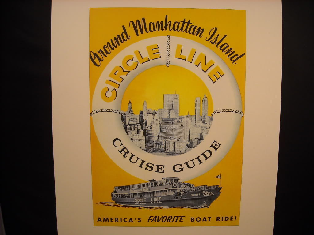 New York City rePrint vintage Ad for Circle Line Cruise