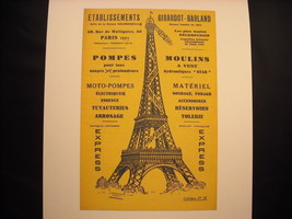 Reprint Vintage Paris Poster Eiffel Tower