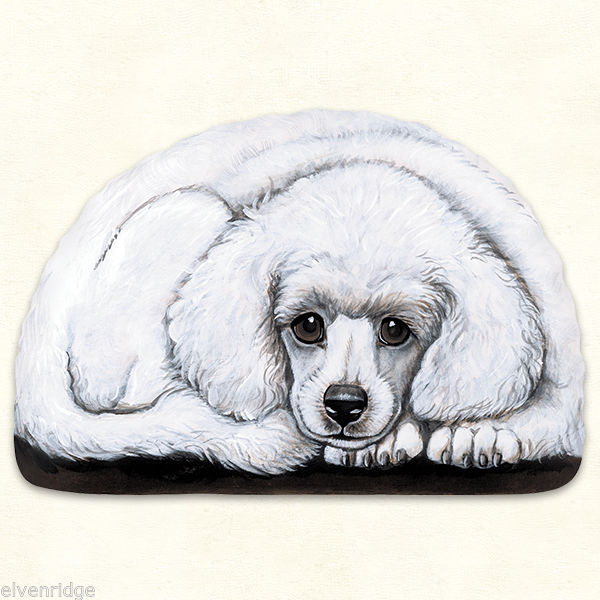 Small Poodle puppy pupperweight paperweight USA made