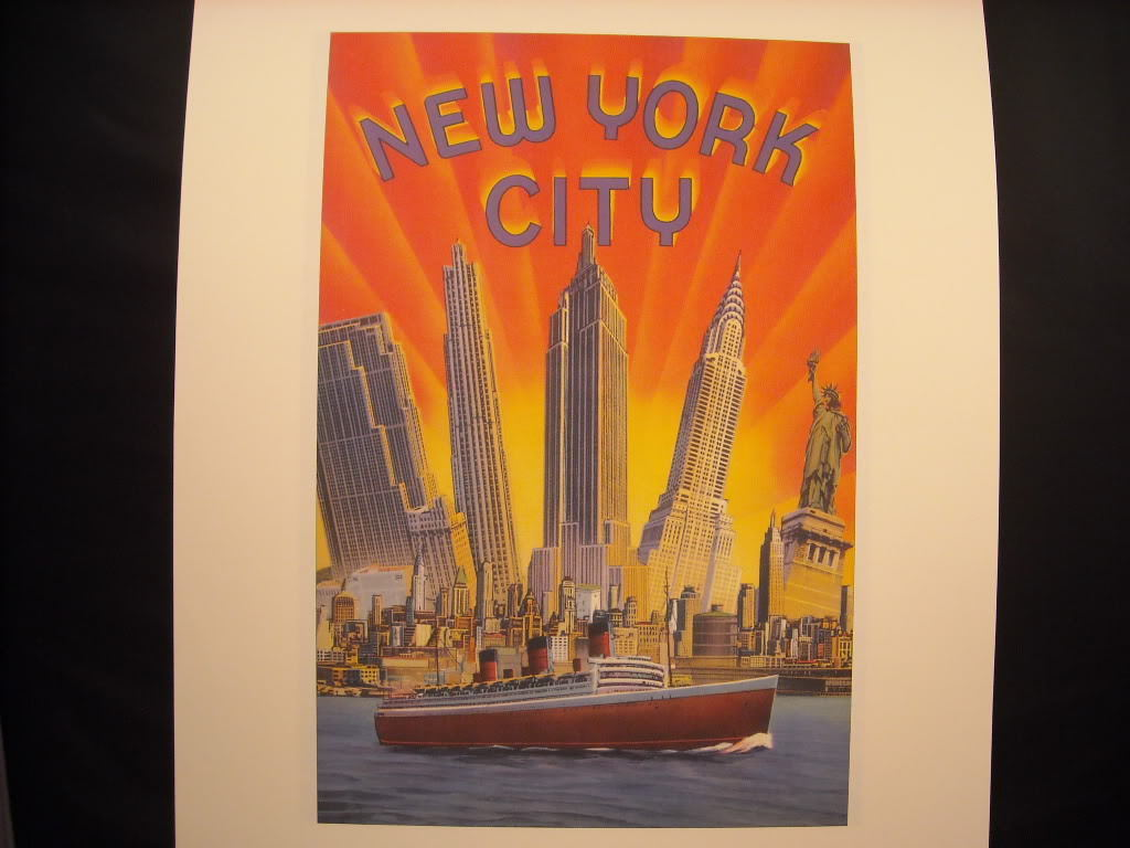 Vintage Color New York City Reprint Collaged Skyline Poster