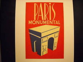 Reprint Vintage Paris Poster Monumental