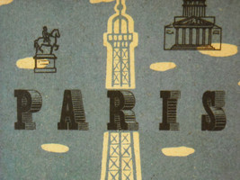Reproduction Print Poster of vintage Postcard from Paris image 2