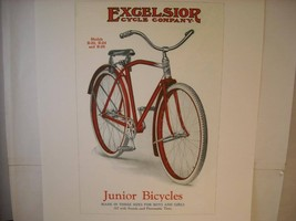 Vintage Excelsior Cycle Company Bicycle Ad Reprint Poster