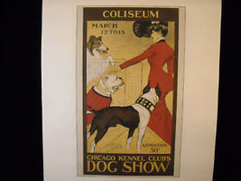 Vintage Italian Color Reprint Chicago Kennel Club Dog Poster 1902 image 1