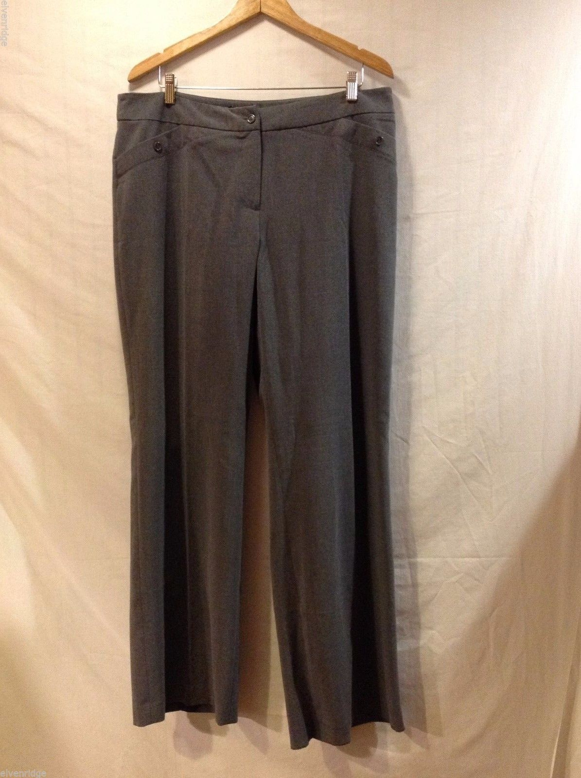 Womens Studio 1940 Gray Dress Pants, Size 18