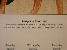 Vintage Italian Color Reprint Harper's 1897 Greyhound Dog Poster image 3