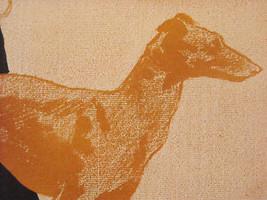 Vintage Italian Color Reprint Harper's 1897 Greyhound Dog Poster image 6