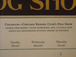 Vintage Italian Color Reprint Chicago Kennel Club Dog Poster 1902 image 3