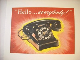 Vintage Rotary Telephone Ad Reprint Poster