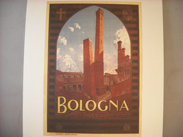 Vintage Reprint Travel Ad Bologna Italy 1927 Trematore French Poster