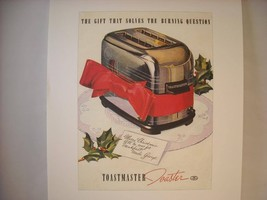 Vintage Toast Master Toaster Ad Reprint Poster
