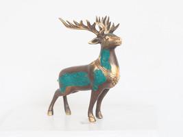 Antique Deer Statue - Vintage Antique Solid Brass Statue - Animal Statue - $50.00
