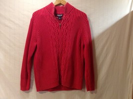 Womens Lands End Heavy Red Sweater, Size XL