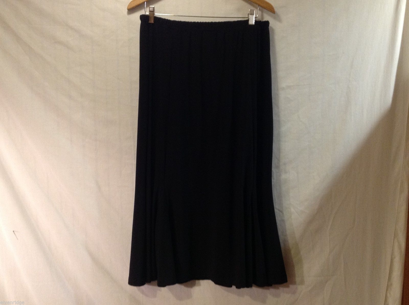 Womens Sag Harbor Stretch Swing Skirt, Size Large