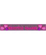 Custom Design Booth Banner Valentine's Day Valentine Crackle Hearts Roma... - $10.00