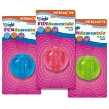 Dog Toy Grriggles FUNdamentals Nebula Balls Dental Hide Treats Rubber fl... - £7.14 GBP
