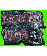 Gothic Warning Sign-HAUNTED HOUSE-Wall Door Plaque Halloween Prop Decora... - $4.92
