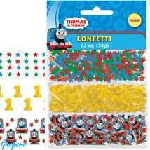 Thomas the Tank Engine Train 1st Birthday Confetti Bag Decoration Party ... - $6.79