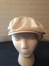 Dockers Beige Golf Flat Cap Cabbie Driver Hat L XL 100% Cotton (hb12 5c99fe8e561