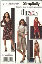 Simplicity 3678 Dresses with Bodice and Sleeve Variations 8, 10, 12, 14,... - $2.00