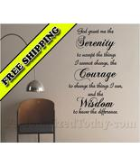 Serenity Prayer Courage Wisdom Home Bedroom Vin... - $19.99