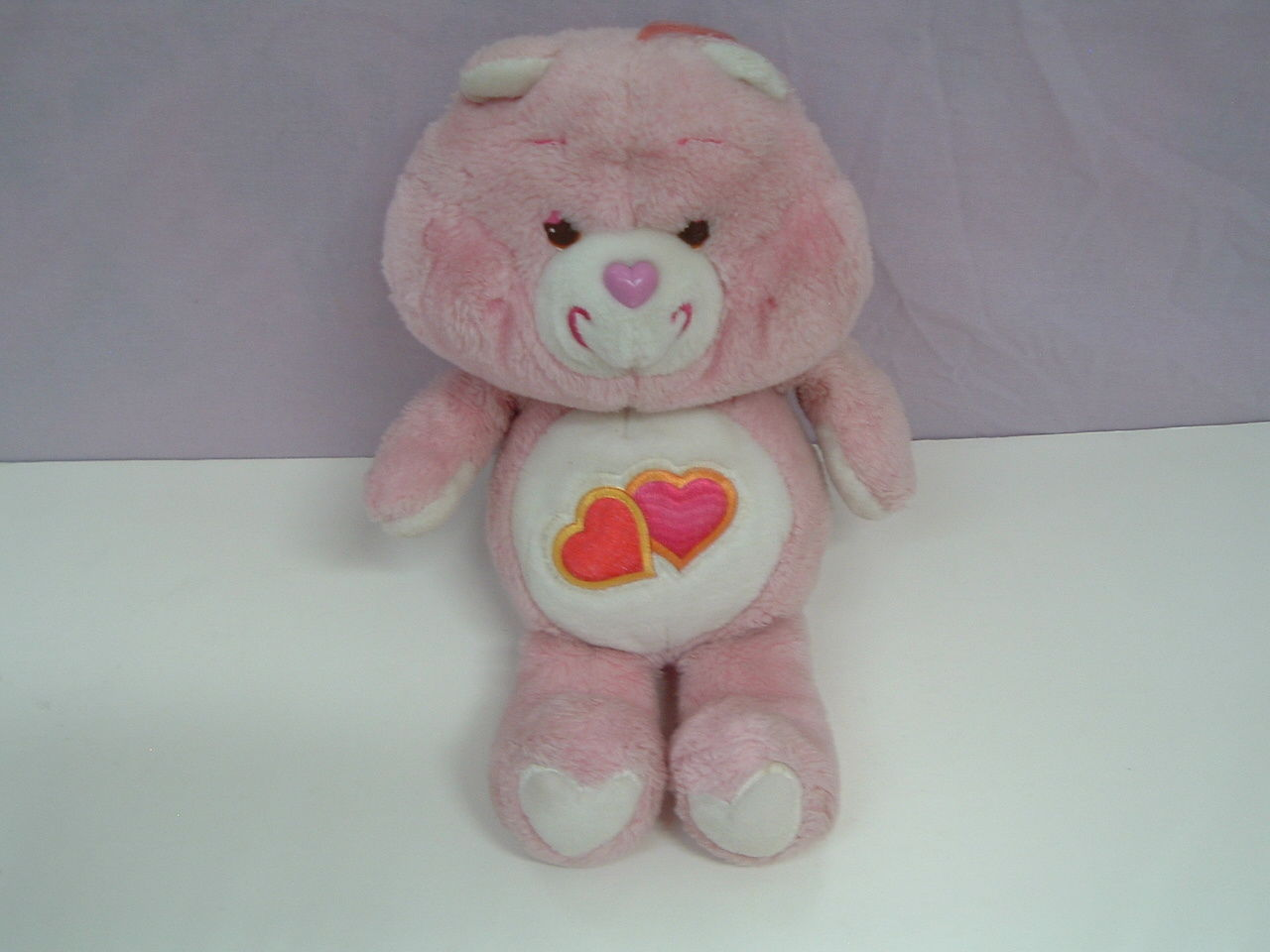 Vintage care bear Love a lot pink bear stuffed plush animal 13 inches
