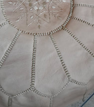 Moroccan Leather Ottoman Pouf  image 2