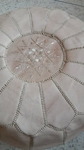 Moroccan Leather Ottoman Pouf  image 3