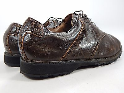 Footjoy Myjoys Men's Leather Golf Spikeless Shoes Sz US 9.5 M (D) EU 42.5 Brown