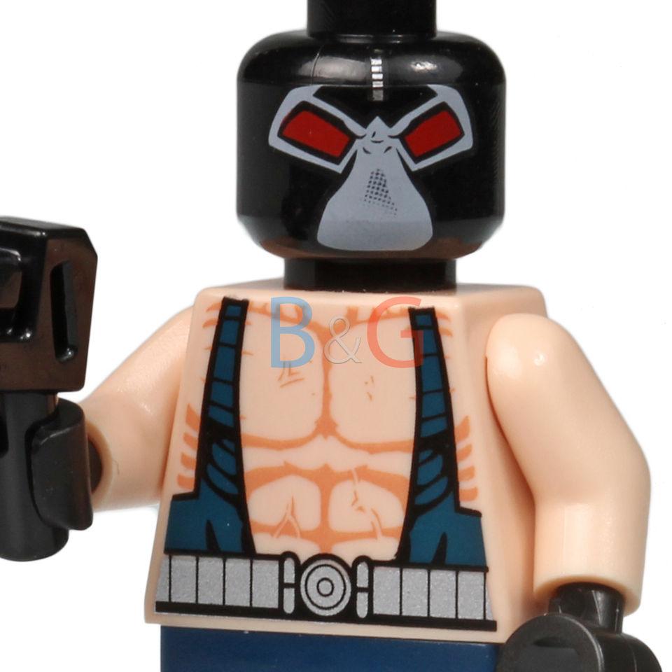 LEGO Batman ORIGINAL Bane Minifig Minifigure w/ Tommy Gun 7787 The Bat-Tank