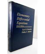 Elementary Differential Equations 1981 Earl Rai... - $20.00