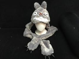 Ghibli Totoro Cosplay Furry Soft Plush Hat Cap Hat Earmuff Scarf Gloves ... - $8.00