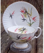 Royal Imperial Bamboo Tea Cup & Saucer Set Excellent Condition - $15.00
