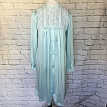 Vintage Pinehurst Lingerie Womens S SMALL Bridal Blue short ROBE - $37.17