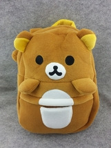 Rilakkuma Brown Bear Cute Soft Furry Plush HandBag Backpack Bag School B... - €12,30 EUR