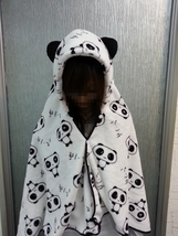 Cute Panda Pattern Soft Comfortable plush Costume Cloak Shawl Cape Wrap-T14 - €13,18 EUR