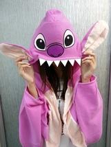 Cute Purple Lilo&Stitch Soft Comfortable plush Costume Cloak Shawl Cape ... - €12,26 EUR