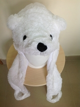 Cute Kawaii Animal Soft Snowy White Plush Warm Cosplay Bear Hat Earmuff ... - €8,78 EUR