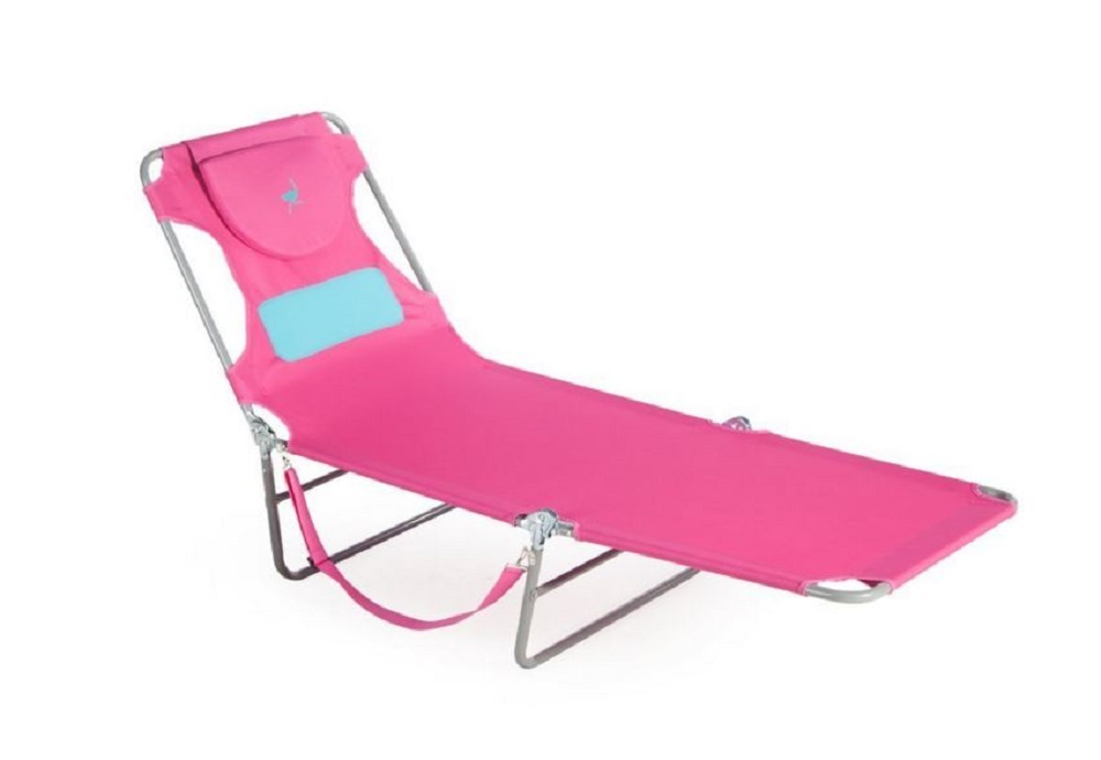 La s Chaise Lounge Pink Ostrich fort Lounger Folding Chair Pool Deck Bea