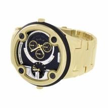 Gold Black Finish Watch 2 Tone NY London Joe Ro... - $39.99