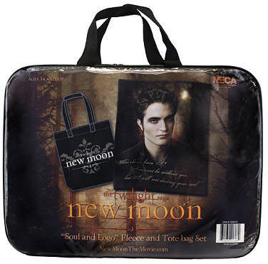 Primary image for The Twilight Saga New Moon Fleece and Tote Bag Set - Edward Soul and Logo NEW!