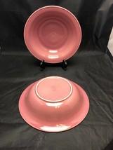 "2 Nancy Calhoun Dark Rose 9.5"" Round Vegetable/Serving Bowls Excellent C... - $29.65"