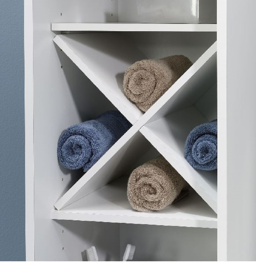 Narrow Bathroom Storage Cabinet Towel Linen Tower Bath Bedroom Cupboard Shelf