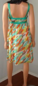 $345 NWT MILLY GREEN WATERCOLOR SHIMMER SILK GOSSIP GIRL DRESS - 8