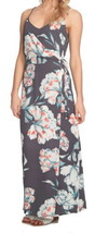 1State Tropical Maxi Dress 8 Medium Floral Wrap Surplice Neck Side Tie C... - $63.79