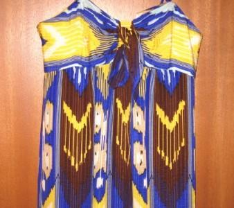 """$545  TORY BURCH BLUE ISLAND """"SOLD OUT!"""" GODDESS! SILK MAXI DRESS ~10"""