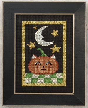 Primary image for Moonlight Madness: Jack O' Cat beaded cross stitch kit Debbie Mumm Mill Hill