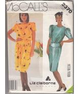 Misses' Dress Liz Claiborne McCall's Sewing Pattern 2370 - $2.84